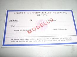 TESSERA LIBERA CIRCOLAZIONE 1971 GENOVA - Europa