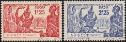 Détail De La Série Exposition Internationale De New York Obl. Guinée Fr. N° 151 Et 152 - 1939 Exposition Internationale De New-York