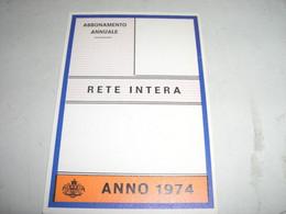 ABBONAMENTO ANNUALE 1974 - Europa