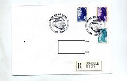 Lettre Recommandée Dole Jura Fete De La Gare - Commemorative Postmarks