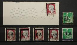 Algérie - Petit Lot De Timbres Surchargés EA (Marianne Décaris, Moissons) Surch Variées 1962 - Briefe U. Dokumente