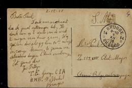 CP ( Bruges : Béguinages) Obl. BRUGGE - 14 - BRUGES  03/12/1918 En Franchise Militaire - Cachets à étoiles