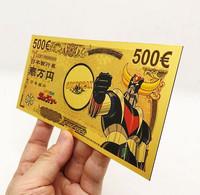 1 Billet Plaqué OR ( GOLD Plated Banknote ) - Manga Goldorak Grendizer - Specimen