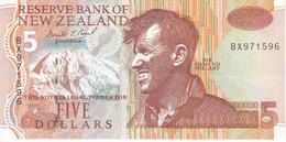 BILLETE DE NUEVA ZELANDA DE 5 DOLLARS DEL AÑO 1992 EN CALIDAD EBC (XF) (PINGUINO-PENGUIN) (BANKNOTE) - New Zealand