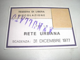 TESSERA LIBERA CIRCOLAZIONE 1977 GENOVA - Europa
