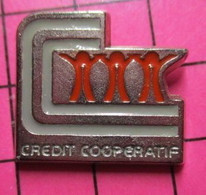 SP09 Pin's Pins / Beau Et Rare / THEME : BANQUES / CREDIT COOPERATIF Par SCM - Banche