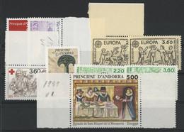 ANDORRE FRANCAIS 1989 ANNEE COMPLETE COTE 24.1 € N° 376 à 384 NEUFS ** (MNH). Vendue à 10% De La Cote. TB - Unused Stamps