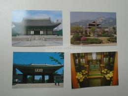 D180532 South  Korea - SEOUL  Ancient Palaces  Lot Of 4 Postcards 1980's - Corea Del Sud