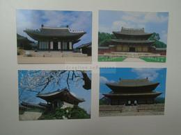 D180533 South  Korea - SEOUL  Ancient Palaces  Lot Of 4 Postcards 1980's - Corea Del Sud