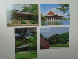 D180534 South  Korea - SEOUL  Ancient Palaces  Lot Of 4 Postcards 1980's - Corea Del Sud