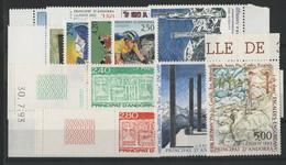 ANDORRE FRANCAIS 1993 ANNEE COMPLETE COTE 32.2 € N° 425 à 440 NEUFS ** (MNH). Vendue à 10% De La Cote. TB - Full Years