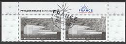 """2021 - Y/T 5494 """"PAVILLON FRANCE – EXPO 2020 DUBAI"""" - BLOC 2T ISSU HAUT DU FEUILLET  OBLITERE 1er JOUR 17.06.21 - 2010-.. Matasellados"""