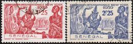 Détail De La Série Exposition Internationale De New York Obl. Senégal N° 153 Et 154 - 1939 Exposition Internationale De New-York