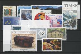 ANDORRE FRANCAIS 1999 ANNEE COMPLETE COTE 39.6 € N° 512 à 524 NEUFS ** (MNH). Vendue à 10% De La Cote. TB - Nuevos