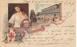FIRENZE-UN RICORDO DA--GRUSS AUS-CARTOLINA VIAGGIATA IL 7-11-1898 - Firenze (Florence)