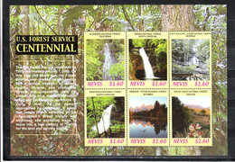 Nevis   -  2006  Foreste E Cascate. Forests And Waterfalls. MNH Fresh Sheet - Gemüse