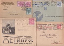 TCHECOSLOVAQUIE CZECHOSLOVAKIA CESKOSLOVENSKO Lot Varié De 290 Enveloppes Timbrées Anciennes Avant 1950 Old Mail Covers - Collections, Lots & Series