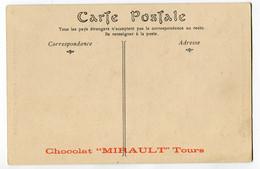 CPA 45 BEAULIEU  Eglise ( Dos PUB Chocolat MIRAULT De Tours ) - Reclame