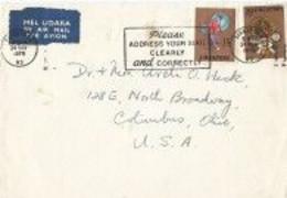 Singapore Voorkant Brief Uit 1970 Met 2 Zegels (2078) - Singapur (1959-...)