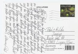 Singapore Kaart Uit 1997 Met  1 Zegel (2080) - Singapur (1959-...)