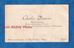 Carte De Visite Ancienne - Charles DANVERS , Artiste Lyrique - Auteur Compositeur Pianiste Piano Musicien - Alger Paris - Visiting Cards