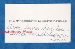 Carte De Visite Ancienne - Baugé ( Maine Et Loire ) / Pierre Grise - M. & Mme Robert De La MOTTE SAINT PIERRE - Visiting Cards