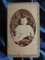 Photo CDV Emile Schweitzer à Strasbourg - Jeune Enfant, Circa 1890 L556A - Old (before 1900)