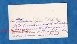Carte De Visite Ancienne - Mademoiselle GENU DELATTRE - Adressé à Monsieur Gougaud - Généalogie - Visiting Cards