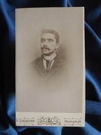 Photo CDV Arnold Zinsmeyer, Mülhausen -  Homme Portrait Nuage, Circa 1890 L556A - Old (before 1900)