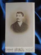 Photo CDV Arnold Zinsmeyer, Mülhausen - Homme Portrait Nuage, Circa 1890-95 L556A - Old (before 1900)