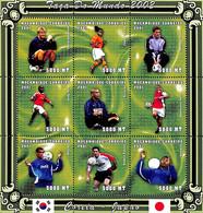 NN - NB - [37673]SUP//**/Mnh-NN - Mozambique 2001 - Sports, Football, David Beckham, Edgar Davids, Andy Cole, Ronaldo, E - Mozambique