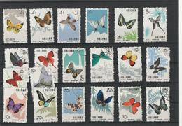 BUTTERFLIES - Michel Nr. 726-735 & 689-698  Oblitérés - Usados