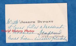 Carte De Visite Ancienne - LE CHESNAY / VERSAILLES - Monsieur & Mme Joseph DUPONT - Adressé à Monsieur Gougaud - Visiting Cards