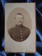 Photo CDV J. Ducas, Mülhausen - Militaire Allemand Du 142e, Circa 1890-95 L556A - Old (before 1900)