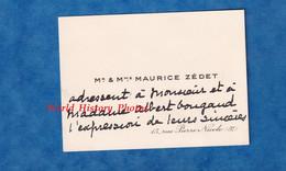 Carte De Visite Ancienne - PARIS 5e - Monsieur & Madame Maurice ZEDET - 15 Rue Pierre Nicole - Vers 1925 - Généalogie - Visiting Cards