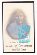 DP Foto - Nathalie Van Langeraerdt ° Huise Zingem 1845 † Doornik Tournai 1930 X Frederic Amez - Images Religieuses