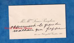 Carte De Visite Ancienne - PARIS 16e - Monsieur & Madame Louis POUGHON - 66 Rue Théophile Gautier - Visiting Cards
