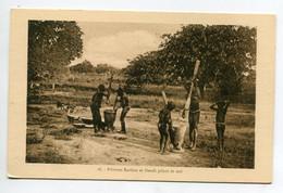 DAHOMEY Fillettes Baribas Et Dendi Pilant Le Mil 1930     / D01 2015 - Dahomey