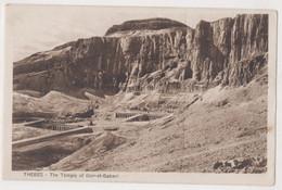 THEBES,THE TEMPLE OF DEIR -EL -BAHARI  POSTCARD - Altri