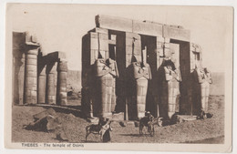 THEBES,THE TEMPLE OF OSIRIS POSTCARD - Altri
