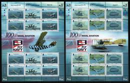 Isle Of Man 2009 - Mi-Nr. 1487-1492 ** - MNH - KLB - Flugzeuge / Airplanes - Isola Di Man