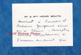 Carte De Visite Ancienne - PARIS ? - Monsieur & Madame Henri BOUTS - Adressé à Monsieur & Madame Gougaud - Visiting Cards