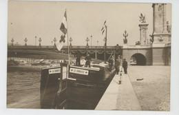"""CROIX ROUGE - Red Cross - BATEAUX - MARINE MILITAIRE - Bateau Hôpital """"LA DANOISE """" (péniche Sanitaire) - 1915 - Red Cross"""