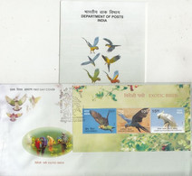 India  2016  Exotic Bords  Parrots  SS  #1  Kanpur  FDC +  Unstamped Brochure  #  77051  D  Inde Indien - Papageien