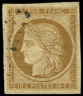 1    10c. Bistre-jaune, Obl. PC, Effigie Dégagée, TTB - 1849-1850 Ceres
