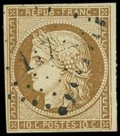 EMISSION DE 1849 - 1    10c. Bistre-jaune, Obl. PC 117, Frappe Légère, TB/TTB - 1849-1850 Ceres