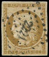 EMISSION DE 1849 - 1    10c. Bistre-jaune, Obl. PC 2221 De NANTES, TB - 1849-1850 Ceres
