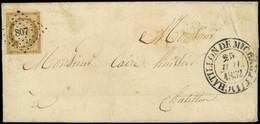 Let EMISSION DE 1849 - 1    10c. Bistre-jaune, Obl. PC 807 S. LAC, Càd T13 CHATILLON DE MICHAILLE 25/7/52, TB - 1849-1876: Classic Period