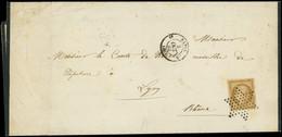 Let EMISSION DE 1849 - 1a   10c. Bistre-brun, Obl. ETOILE S. Faire-part, Càd 3e PARIS 6 3/10/72, Superbe - 1849-1876: Classic Period