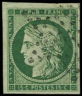 EMISSION DE 1849 - 2b   15c. Vert FONCE, Oblitéré ETOILE, TB. Br - 1849-1850 Ceres